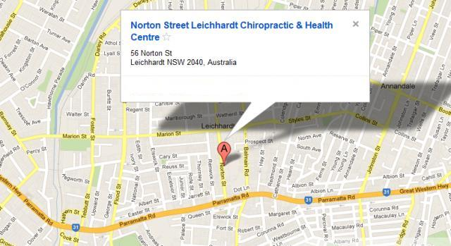Norton Street Chiropractic - Location Map